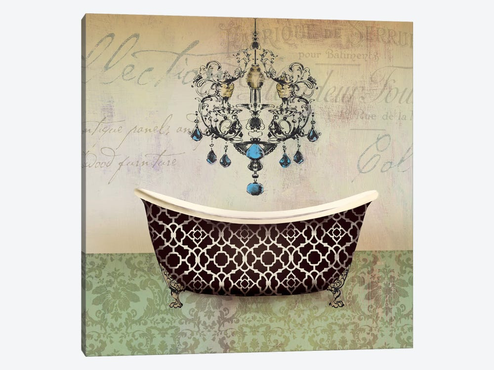 French Vintage Bath I by Aimee Wilson 1-piece Canvas Wall Art