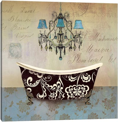 French Vintage Bath II Canvas Art Print
