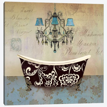 French Vintage Bath II Canvas Print #AWI109} by Aimee Wilson Art Print