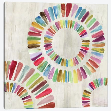 Fun Rings II Canvas Print #AWI111} by Aimee Wilson Canvas Wall Art
