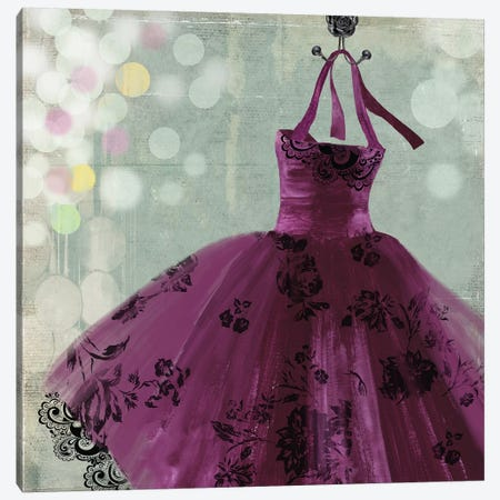 Fuschia Dress I Canvas Print #AWI112} by Aimee Wilson Canvas Wall Art
