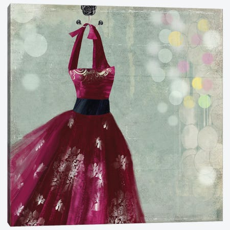 Fuschia Dress II Canvas Print #AWI113} by Aimee Wilson Canvas Art