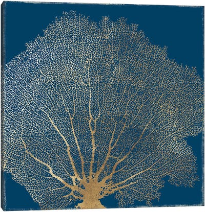 Gold Coral III Canvas Art Print