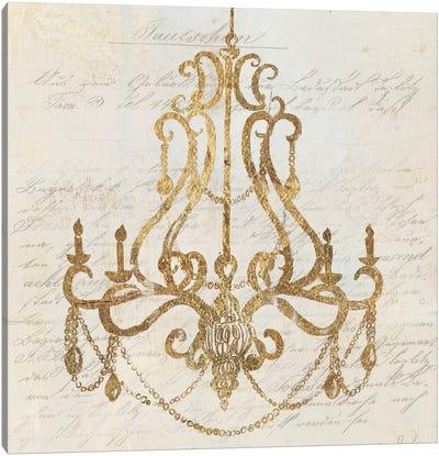 Golden Chandelier I Canvas Art Print