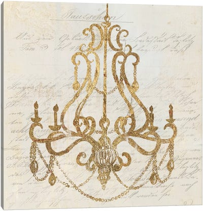 Golden Chandelier I Canvas Art Print