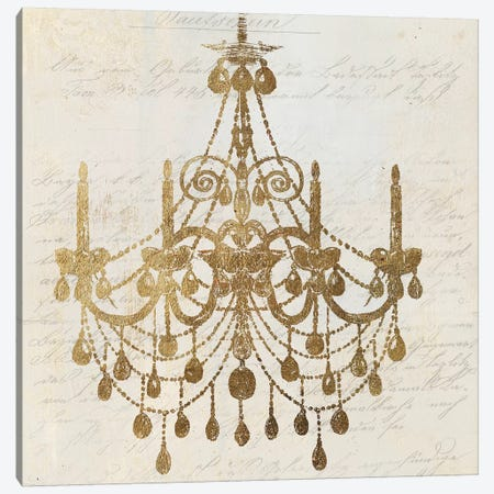 Golden Chandelier II Canvas Print #AWI130} by Aimee Wilson Canvas Art