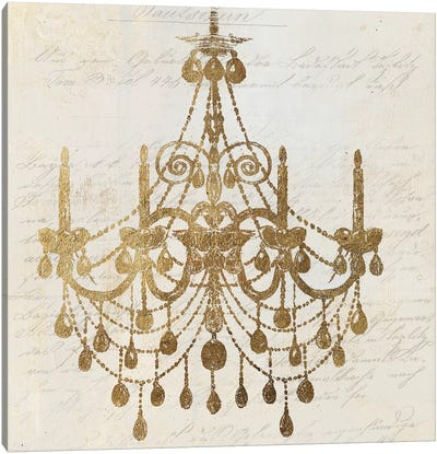 Golden Chandelier II Canvas Art Print
