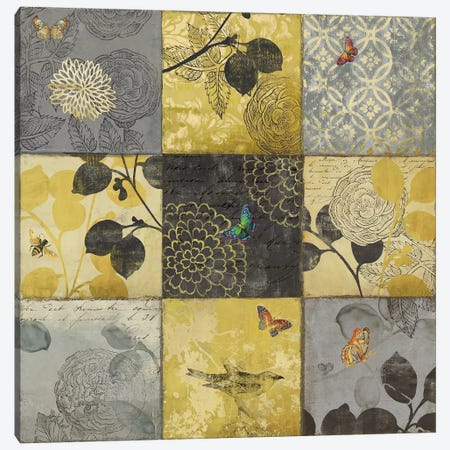 Golden Patchwork Canvas Print #AWI131} by Aimee Wilson Canvas Art