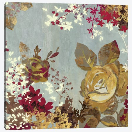 Golden Roses II Canvas Print #AWI133} by Aimee Wilson Canvas Art