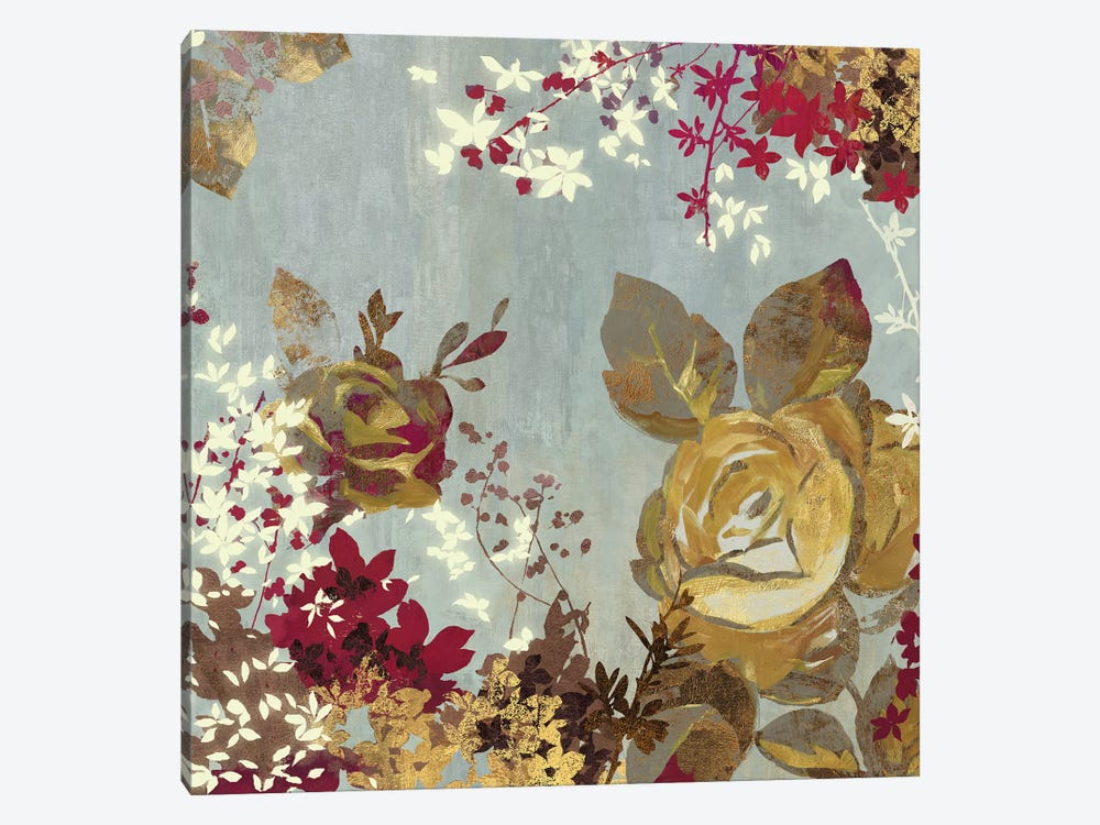Golden Roses II by Aimee Wilson 1-piece Canvas Artwork