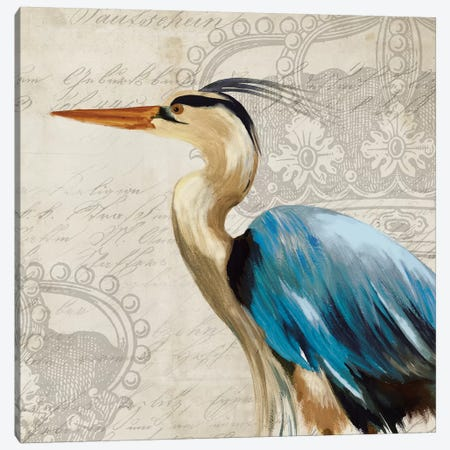 Heron II Canvas Print #AWI139} by Aimee Wilson Canvas Art