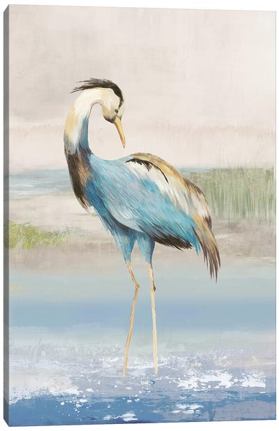 Heron On The Beach I Canvas Art Print