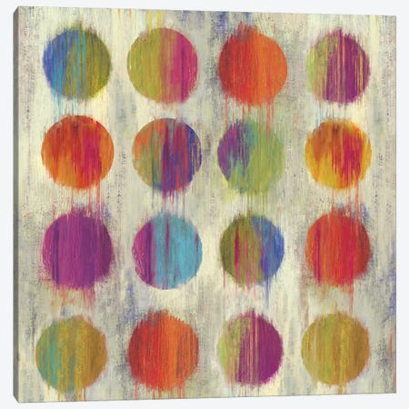 Ikat Dots I Canvas Print #AWI149} by Aimee Wilson Canvas Art Print