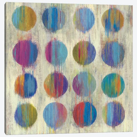 Ikat Dots II 3-Piece Canvas #AWI150} by Aimee Wilson Canvas Wall Art