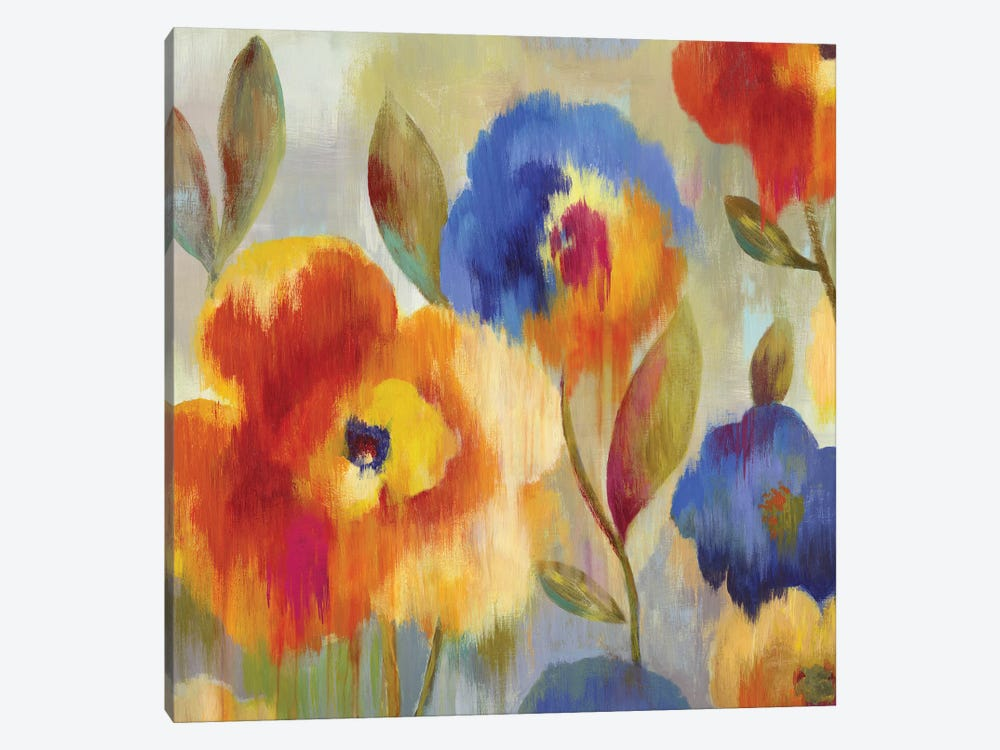 Ikat Florals by Aimee Wilson 1-piece Canvas Artwork