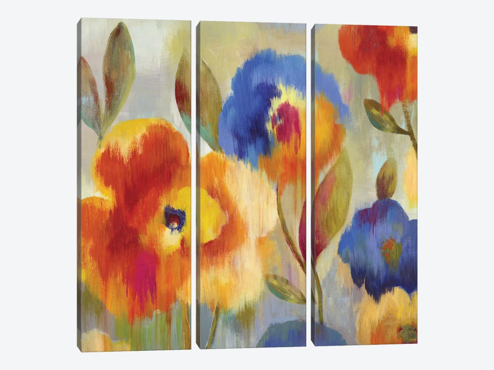 Ikat Florals by Aimee Wilson 3-piece Canvas Wall Art