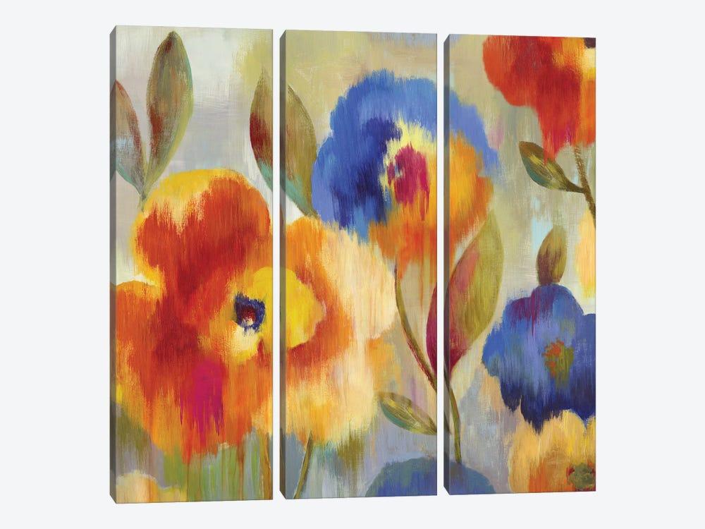 Ikat Florals by Aimee Wilson 3-piece Canvas Wall Art
