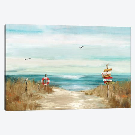 Beach Bird Canvas Print #AWI17} by Aimee Wilson Canvas Art