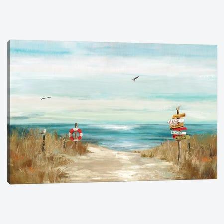 Beach Bird Canvas Print #AWI17} by Aimee Wilson Canvas Art