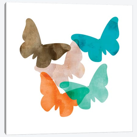 Mod Butterflies Canvas Print #AWI188} by Aimee Wilson Art Print