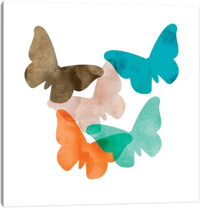 Mod Butterflies Canvas Art Print