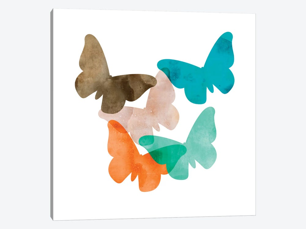 Mod Butterflies by Aimee Wilson 1-piece Canvas Art