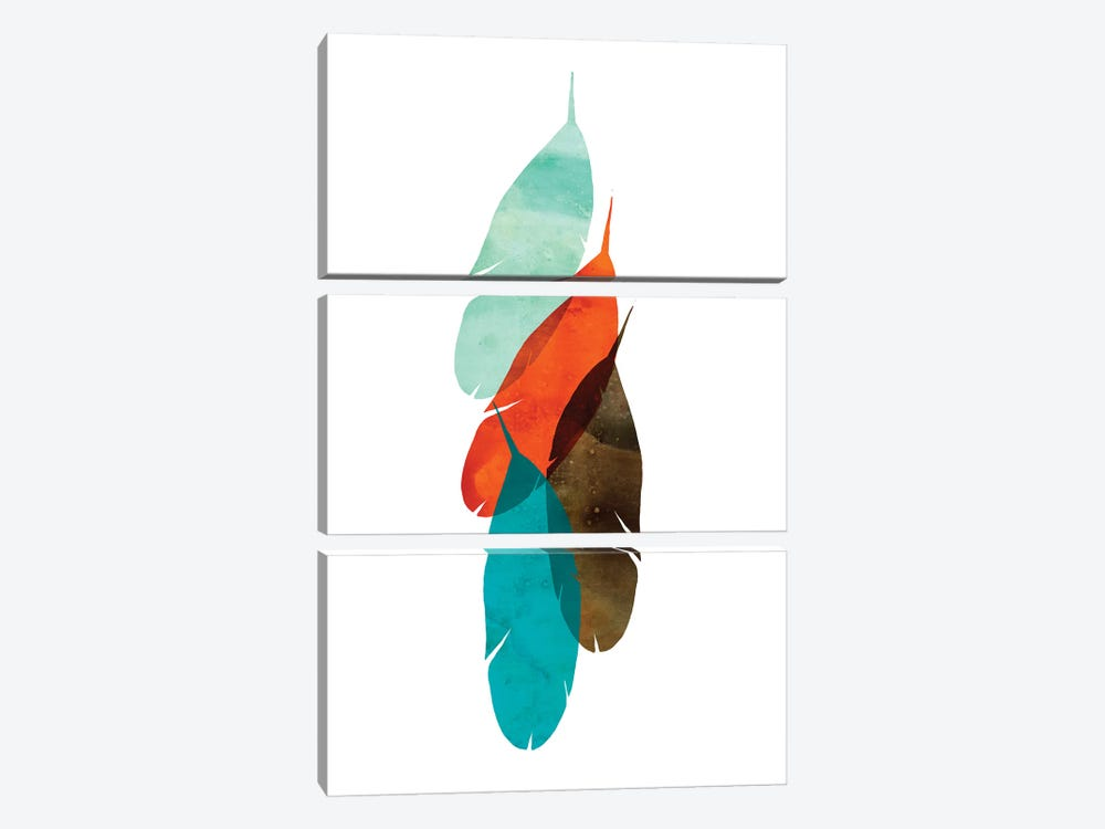 Mod Feathers by Aimee Wilson 3-piece Canvas Art Print