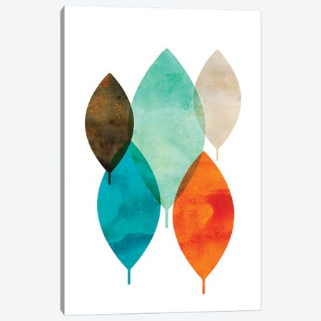Mod Leaves I Canvas Print #AWI191} by Aimee Wilson Canvas Art
