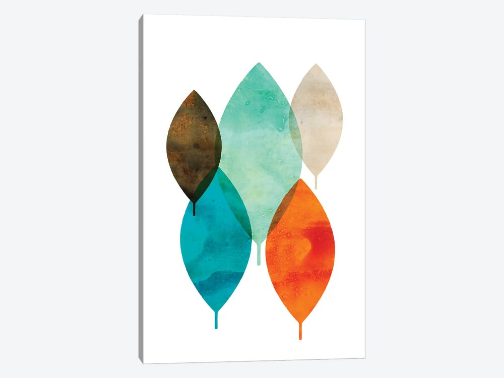 Mod Leaves I by Aimee Wilson 1-piece Canvas Wall Art
