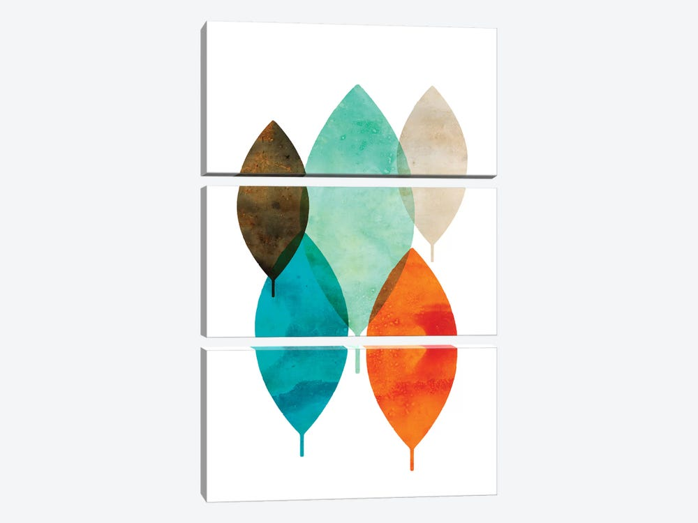 Mod Leaves I by Aimee Wilson 3-piece Canvas Artwork