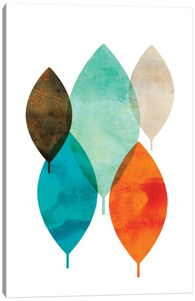 Mod Leaves I Canvas Art Print