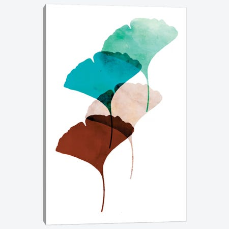 Mod Leaves III Canvas Print #AWI193} by Aimee Wilson Canvas Artwork