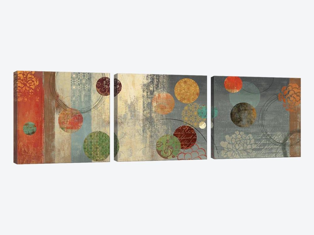 Mosaic Circles II by Aimee Wilson 3-piece Canvas Art