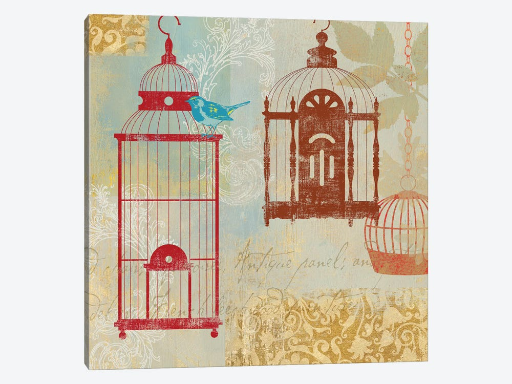 Bird On A Cage I by Aimee Wilson 1-piece Canvas Art Print