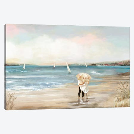 Pearl Shore Canvas Print #AWI229} by Aimee Wilson Canvas Artwork