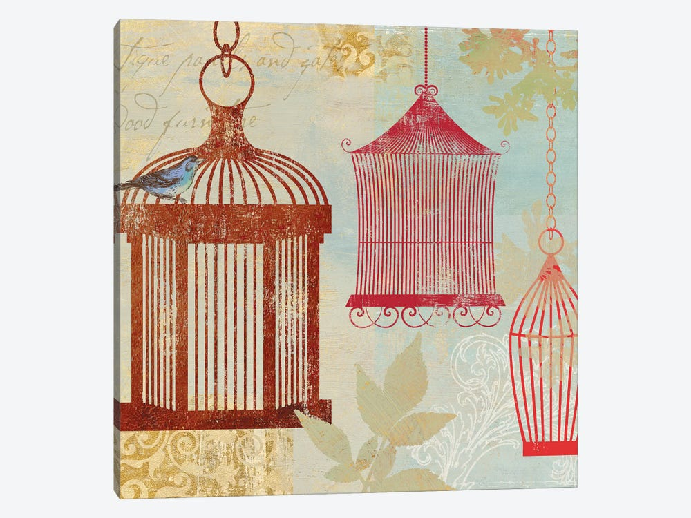 Bird On A Cage II by Aimee Wilson 1-piece Canvas Artwork