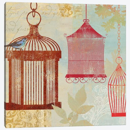Bird On A Cage II Canvas Print #AWI22} by Aimee Wilson Canvas Art