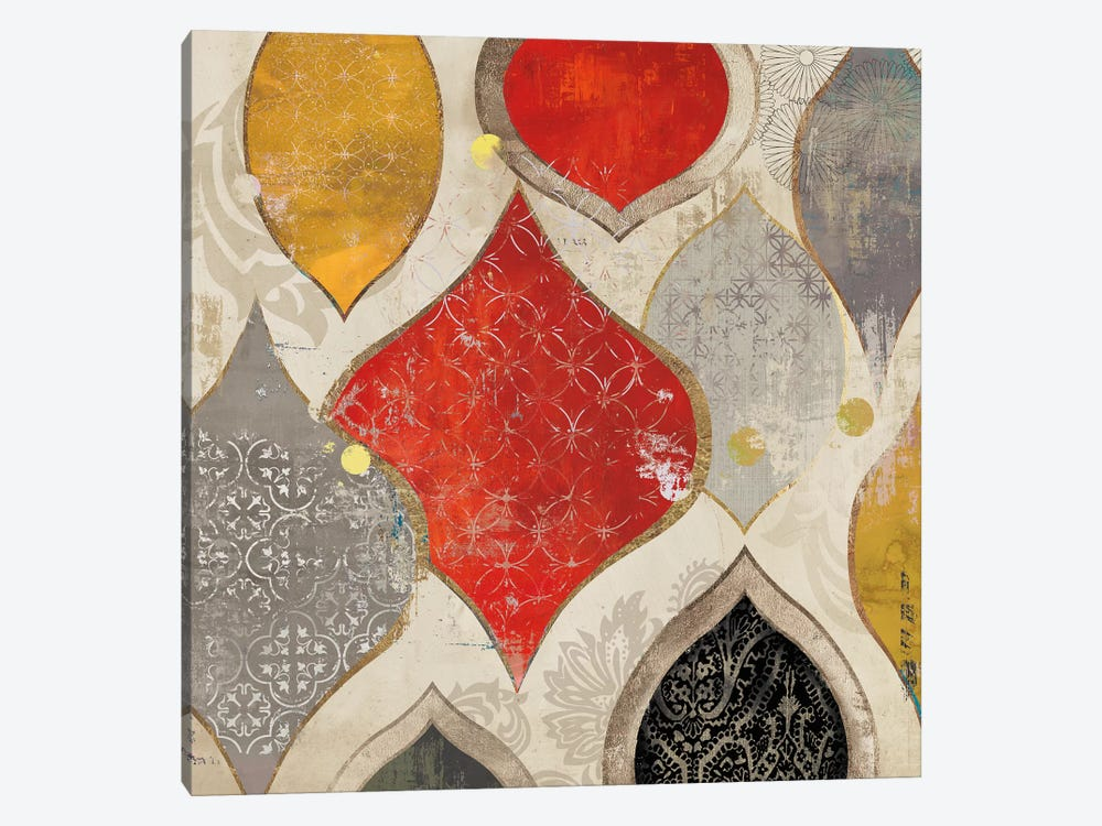 Red Motif II by Aimee Wilson 1-piece Canvas Artwork
