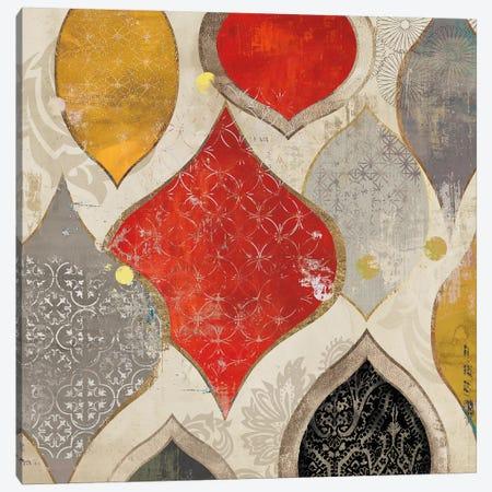 Red Motif II Canvas Print #AWI242} by Aimee Wilson Canvas Art