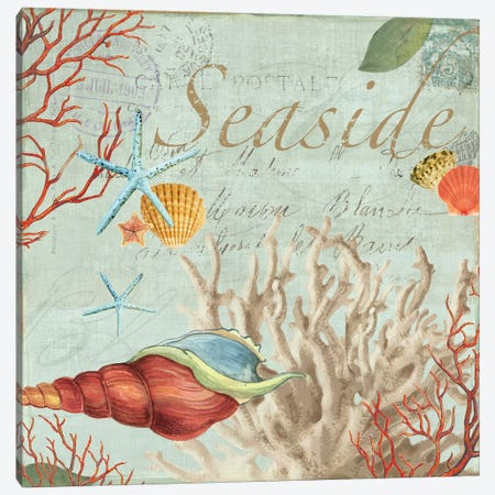 Seaside Canvas Print #AWI250} by Aimee Wilson Art Print