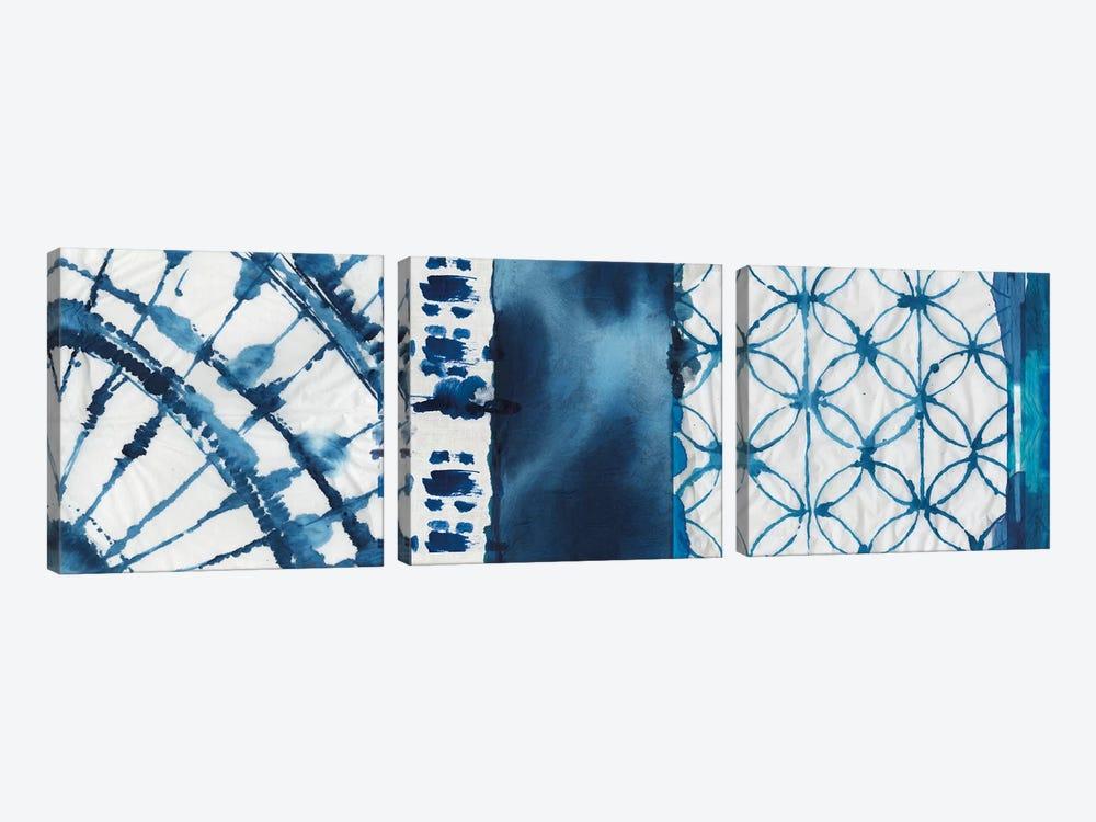 Shibori Patchwork II by Aimee Wilson 3-piece Canvas Art Print