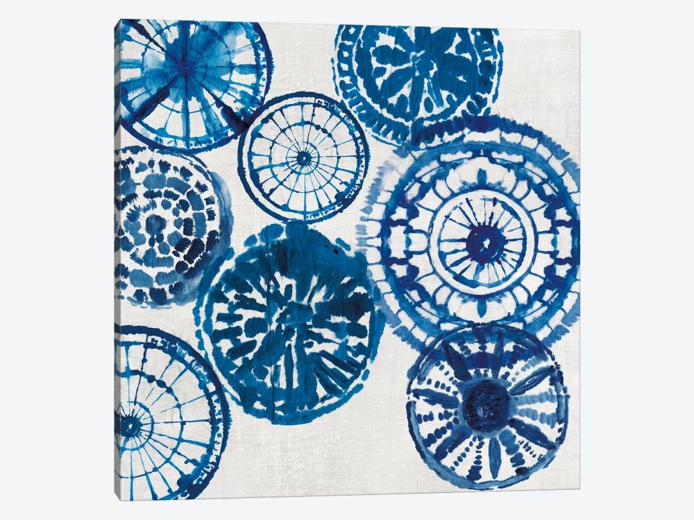 Shibori Rings I 1-piece Canvas Art