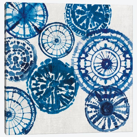 Shibori Rings I Canvas Print #AWI259} by Aimee Wilson Art Print