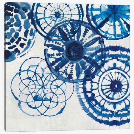 Shibori Rings II Canvas Print #AWI260} by Aimee Wilson Canvas Wall Art