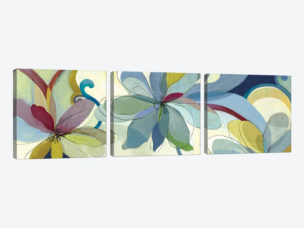 Silk Flowers I by Aimee Wilson 3-piece Canvas Art