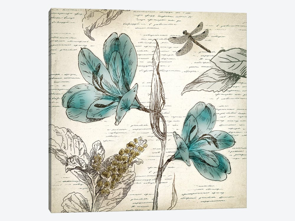 Blooming Teal I by Aimee Wilson 1-piece Canvas Artwork