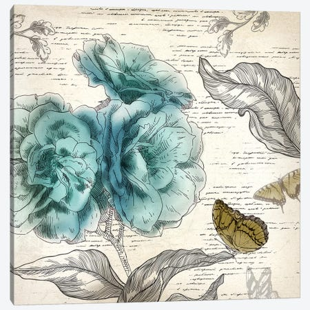 Blooming Teal II Canvas Print #AWI27} by Aimee Wilson Canvas Print