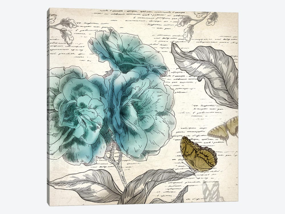 Blooming Teal II by Aimee Wilson 1-piece Art Print