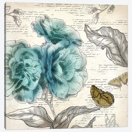 Blooming Teal II Canvas Print #AWI27} by Aimee Wilson Canvas Print