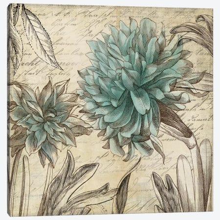 Blue Botanical I 3-Piece Canvas #AWI28} by Aimee Wilson Canvas Art